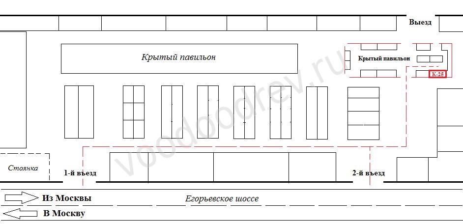 Схема проезда на рынке Егорка